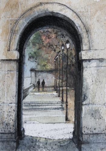 Arco dependencias Monasterio SL de El Escorial