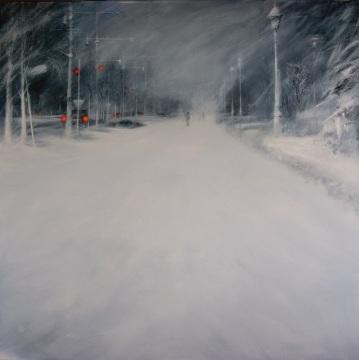 ,Mejor Andando' - Acrílico sobre lienzo. Obra Finalistas en el 50 Premio Reina Sofía de Pintura y Escultura 2015