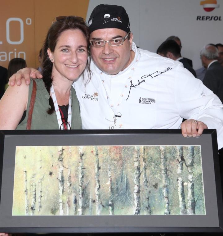 Con Andrea Tumbarello (Restaurante Don Giovanni). Obsequio de Repsol