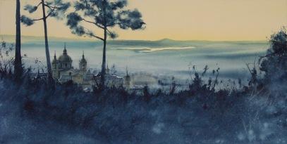 Amanecer desde Abantos, Monasterio SL de El Escorial