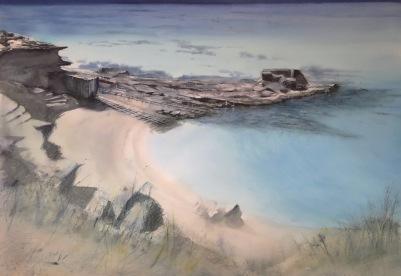 Formentera, Acuarela 120x100cm