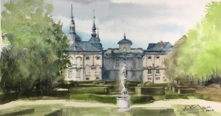 Palacio de La Granja desde los jardines, Segovia