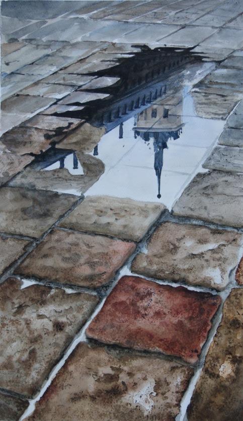 Reflejo en la lonja del Monasterio SL El Escorial, Madrid