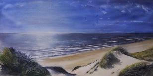 Playas de Holanda, Acuarela 120x60cm