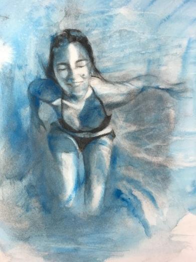 Irene bajo el agua