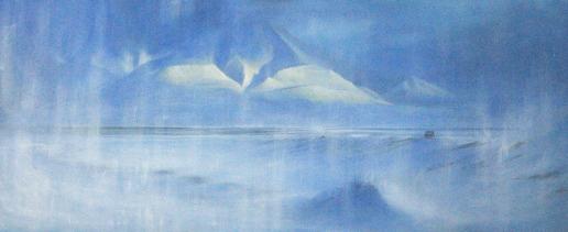 Ártico. Acrílico sobre lienzo, 200x100cm