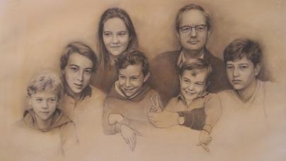 Tío Alberto - grafito y acuarela, 76x56cm