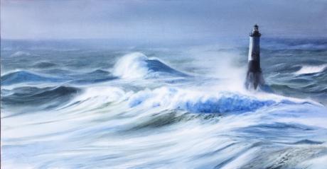 Faro Ar-Men, Bretaña II 106x56cm