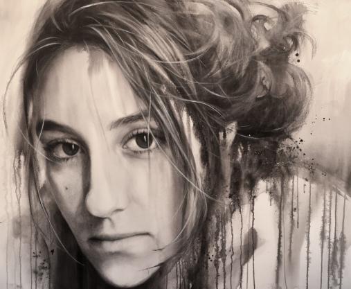'Irene' - Acuarela sobre papel, Gran formato 120x90cm