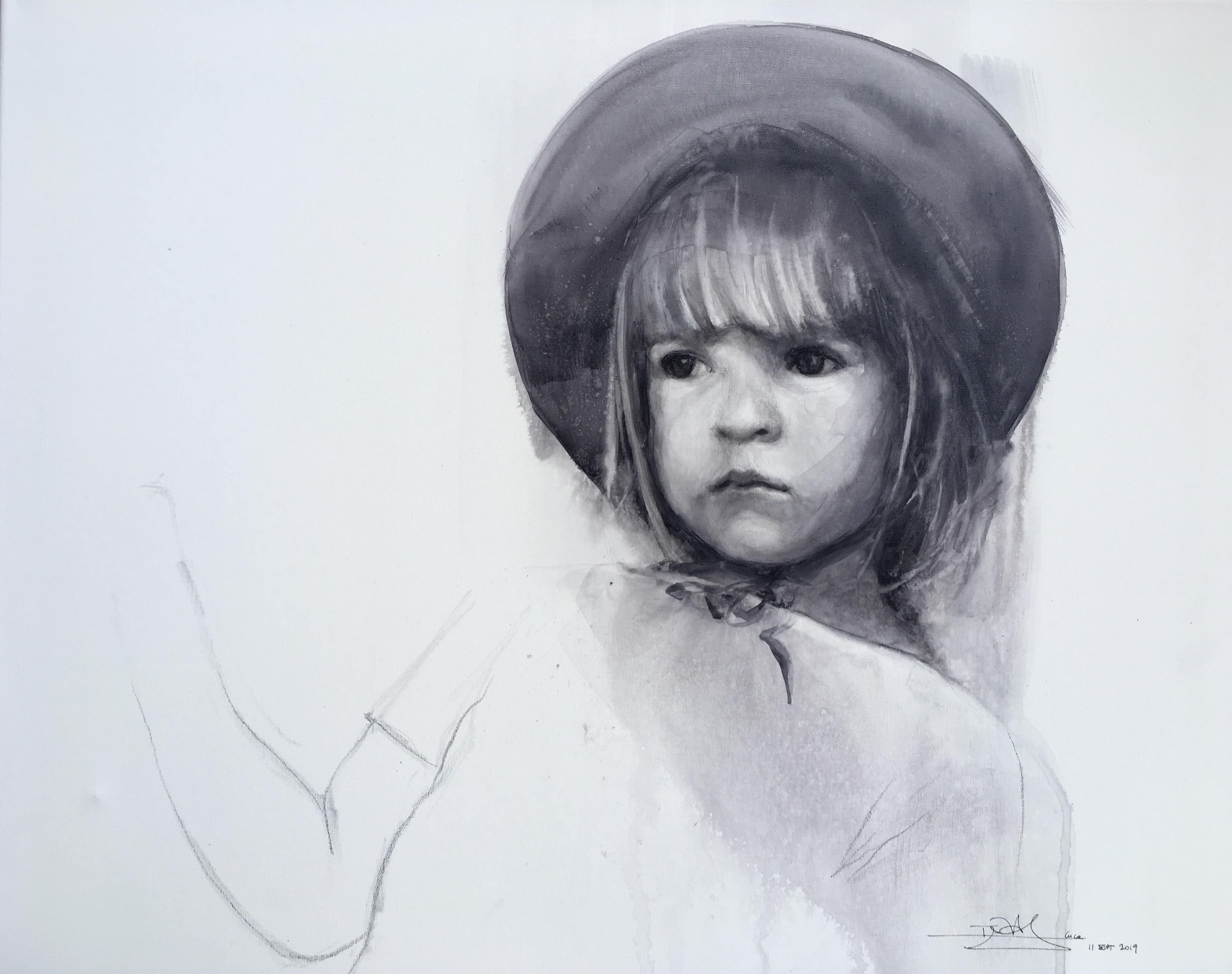 'Cuca' - acuarela sobre lienzo, 50x50cm