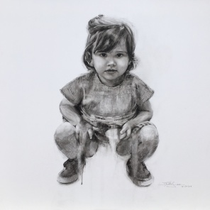'Helena' - acuarela sobre lienzo, 70x70cm.