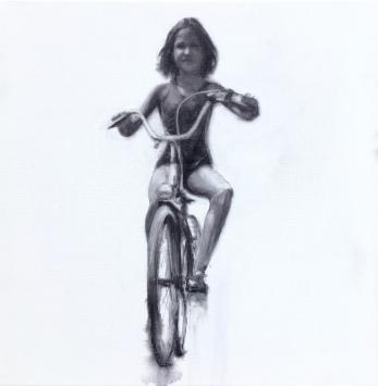 'Cuca' - Acuarela sobre lienzo 3D, 20x20cm