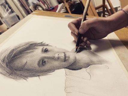 'Gonzalo' - Grafito, 40x30cm